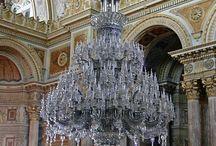huge crystal chandelier