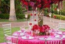 Hot pink & red deco