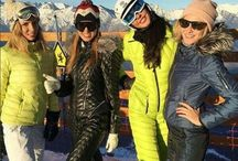 Odri style sexi down ski suits