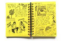 Sketch, scrap book