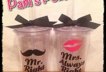 MR AND MRS, LIP AND MUSTACHE WEDDING IDEAS