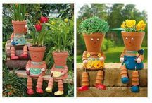 Playing with clay pots
