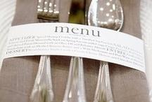 Bryllups menu velkomst mm. Kort