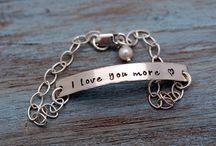 Hand Stamped Bracelets / Bracelets made by Something About Silver / by Something About Silver