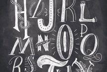 hand lettering & Kalligrafie