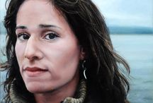 My Paintings / Portraits painted in oil on metal (copper and aluminum) by Rebecca Luncan