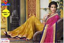 Georgette with Nett sarees / New designer of Georgett with Zari Border Lace saree like party wear