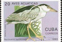 Heron stamps