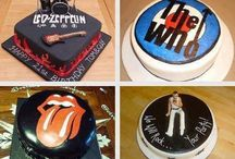 band cakes