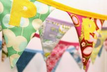 Bunting made by 2 Green Monkeys / Our bunting is all handmade to order with double thickness flags, from 100% cotton fabric. We can make it any length and flags can be personalised in a variety of ways. / by 2 Green Monkeys