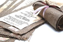 Invitations  & Vows / Vintage Invitations, Old Style Invitations, Burlap Invitations, Calligraphy Invitations - Wedding Vows Calligraphy and Handmade