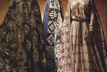 Byzantine dress / Extant or reconstructed medieval Byzantine clothing. I have no idea where these pictures came from, but I have a feeling that they are not original. Does anybody know?