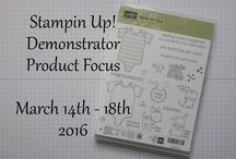 Stampin Up! Product Focus Projects / These are projects I have made for a SU! product focus group I am in :)