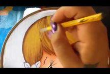 Pintura en tela y bordados