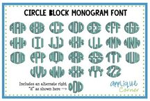 Embroidery Monogram Font