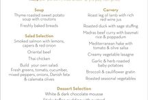 The special menu for Motheré day at the Premier Hotel Cape Manor / Celebrating Mother's day 10th May 2015