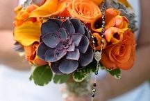 Orange Bouquets / Orange bouquets by Beautiful Blooms by. Jen for your wedding inspiration.