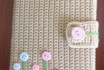 Crochet book cover