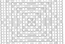 háčkované štvorce