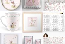 Art for Girls • room • decor • gift ideas for girls • stationery / Art for Girls ~ all drawings and artwork displayed on this board were illustrated by children's book illustrator, Amanda Francey. More designs coming soon...
