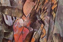 1. prekubismus (1907-1909) / neboli tzv. negerské nebo cézannovské období - Pablo Picasso, Georges Braque