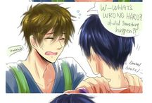 Free! Iwatobi gay club / Rinharu, reigisa, souai