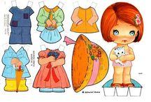 Kağıt bebekler ve kıyafetleri