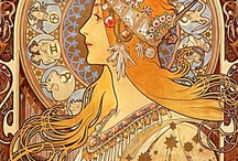 art nouveau / (mainly Alphonse Mucha & Lalique)