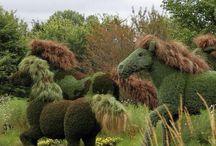 Estatuas  verdes