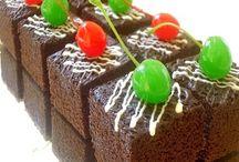 Kue brownis cokelat amanda