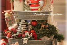 3 tiered trays for christmas