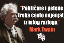 Mark Twain / Legendarni Mark Twain iza sebe nije ostavio samo odlične knjige i novinske kolumne već i mudrost koju ćemo vam s ponosom predstaviti.
