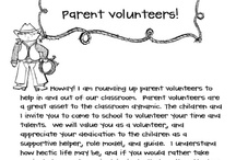 Assignment 2- Volunteers / Here you will find forms for parent volunteers / by Jessica Bourdeau