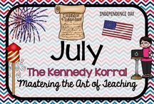 July Teaching Ideas / Fun Fourth of July themed activities for kids including fireworks, patriotism, and flags.  Find exciting science experiments and STEM ideas, too.