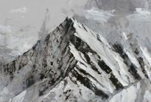 Calo Carratalá / Spanish artist Calo Carratalá creates work inspired by the landscape, particularly the snow covered mountain peaks of the Sierra Nevada. Represented by First Contemporary Gallery.