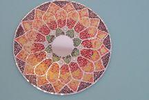 Mándala mosaiquismo / Mándala realizada en mosaiquismo con espejo