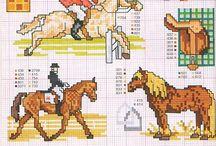 Vyšívání - koně
