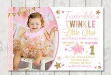 Gabriella 1st Bday- Twinkle Twinkle Little Star