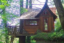 Up up and away....in my tree house / Amazing tree houses / by Jill Myers