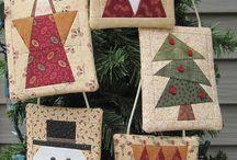 quilty Xmas ornaments