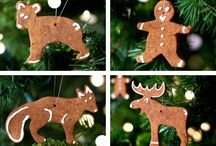 Christmas Ornaments / Small decorations to hang on garlands, in windows, on Christmas trees or even from the rear-view mirror.
