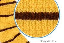 Kids scarves / Knitting