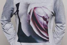 Sweat-shirt+photo+imprimé+fleur+rose+createur