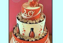 Üveg és alkoholos  torták