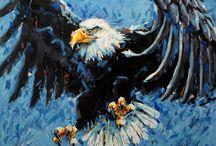 Bird Wildlife Paintings / Acrylic paintings of birds