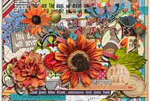 {Collecting Moments:September} Digital Scrapbook Kit by Pixelily Designs / A fallish kit with great colors of embellishment and papers. It is a versatile pack that can go with any theme and style of your scrapbooking ideas.