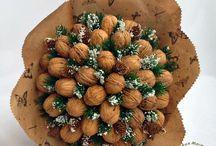 orechové kytice
