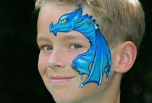 Dragon Facepaint designs