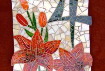 lilies mosaic