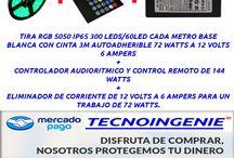 KIT AUDIORITMICO RGB ELIMINADOR 6 AMPERS